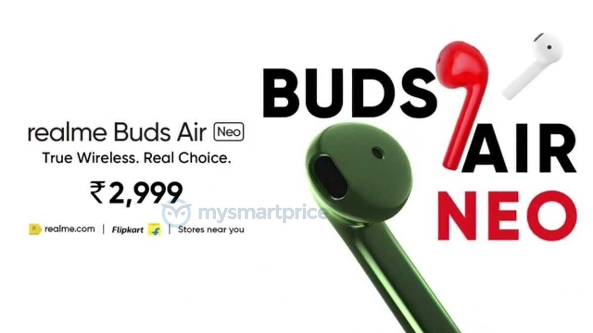 Realme Buds Air Neo Will Debut At ₹2,999 Price Tag; Here Are All The Details!