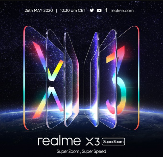 Realme X3 SuperZoom Launch Scheduled For May 26 In Europe; Specs, Pricing, And Availability