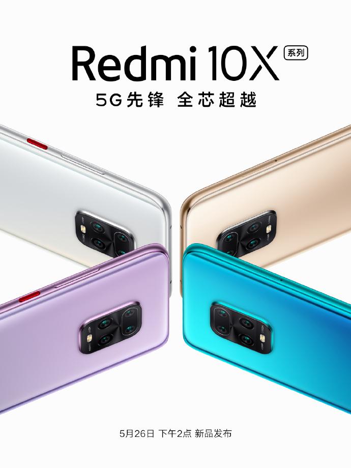 Redmi 10X Smartphone With OLED Display And MediaTek Dimensity 820 SoC Is Debuting On May 26